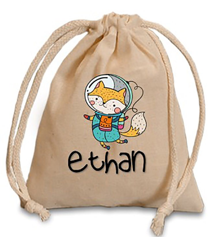 astronaut party bag personalize birthday favor bag space drawstring