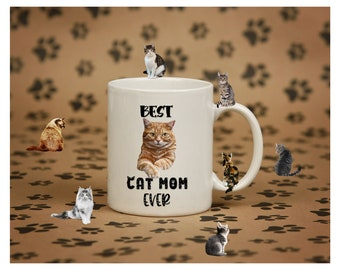 Best cat mom ever mug. Cat mom gift. Pet gift for women. Cat gift for women.  11oz mug. 15oz mug