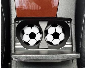 Set of 2 Neoprene fabric sport theme car coasters favor
