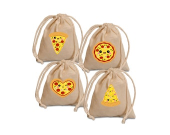 Pizza party favor bags.  Pizza party bags. Pizza party favors. Birthday treat bags. Birthday favor bags. Party treat bags. Party favor bags