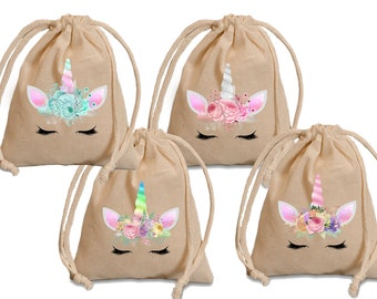 Unicorn party favor bags. Unicorn birthday. Unicorn favor bags. Unicorn party bags. Unicorn baby shower. Unicorn 1st birthday. Treat bags