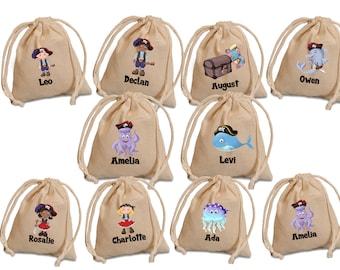 Pirates favor bags. Pirates Birthday. Pirates party. Birthday favor bags. birthday party favors. Party favor bags.