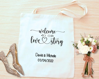 Wedding welcome tote bags. Wedding welcome bags for guests. Tote bags personalizes. Wedding tote for guests. Wedding gifts for guests
