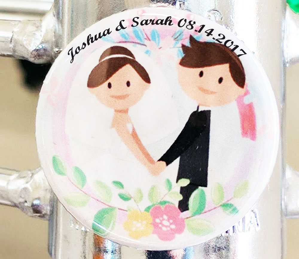 wedding favor magnets button wedding magnet guests thank you magnets ...