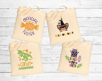 Halloween tote bag. Halloween trick or treat bag. Personalized candy tote bag. Custom tote bag. Halloween gift. Kids Halloween bag. Unicorn