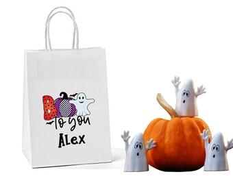 Halloween paper gift bags. Halloween bag. Halloween party bag. Halloween gift for guests