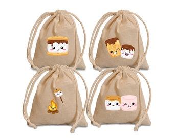 smores treat bags. Valentine favor bags.  Valentine party bags. Valentine's day favors. Valentine treats. smores favor bags