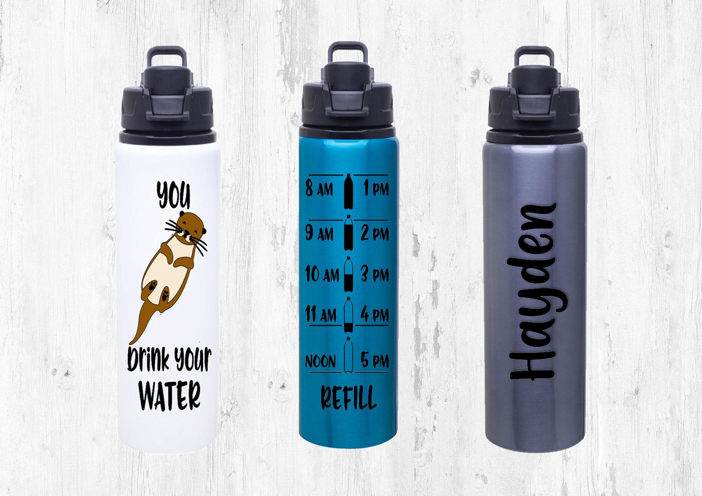 986ee049f3 Otter water bottle tracker. Sport water bottle. Sea otter. Drink your water.  Water tracker. Custom water bottle. Personalized otter bottle