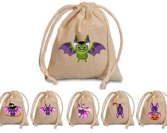 Baby bat favors bags.  Halloween treat bags for kids. Baby birthday treat bags. Halloween party treat bags. Halloween treat bags for school