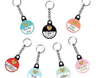 Key chain favors. Wedding favors. Keychain favors. Custom keychain. Personalized favors. Party favors. Birthday keychain. Bulk favors.