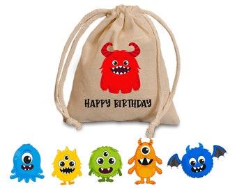 Monster favor bags. Toddler birthday favors. Personalized favor bags. Monster Party favors. Monster baby shower decoration. Monster birthday