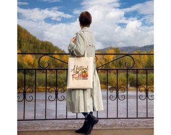 Fall tote bag. Autumn tote bag. Personalized fall tote bag. Custom tote bag. Fall gift. Fall gift for women