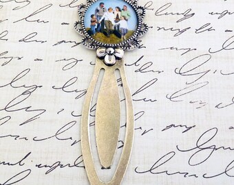 gift for book lover book mark family photo clip book mark family memory photo book mark custom book lover gift book mark gift idea