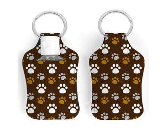 Paws sanitizer holder keychain. Dog paws sanitizer holder. Cat paws sanitizer holder. Pet paws sanitizer holder. Dog gift. Cat gift.