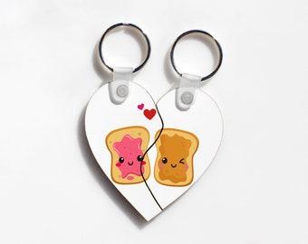Split heart Key chain. Custom friendship keychain. Perfect match gift. boyfriend Girlfriend gift. Couple gift. His and hers gift