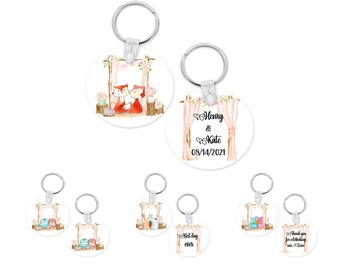 Custom wedding Key chain favors gifts for guests. Party favors. Wedding favors