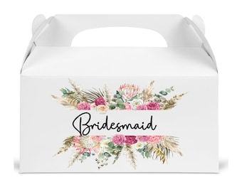 Bridesmaid proposal gift box.  Box for bridesmaids gift. Personalized Box for wedding gifts. Will you be my bridesmaid box