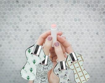 Mint Christmas Chapstick holder. Mint lip balm holder. Holiday lip gloss holder.