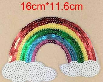 Sequin rainbow patch