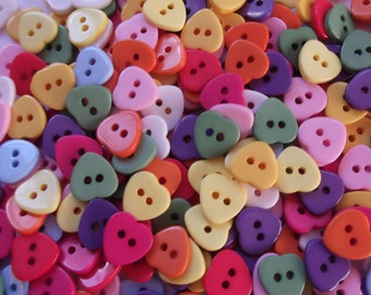 11mm resin hearts x 60