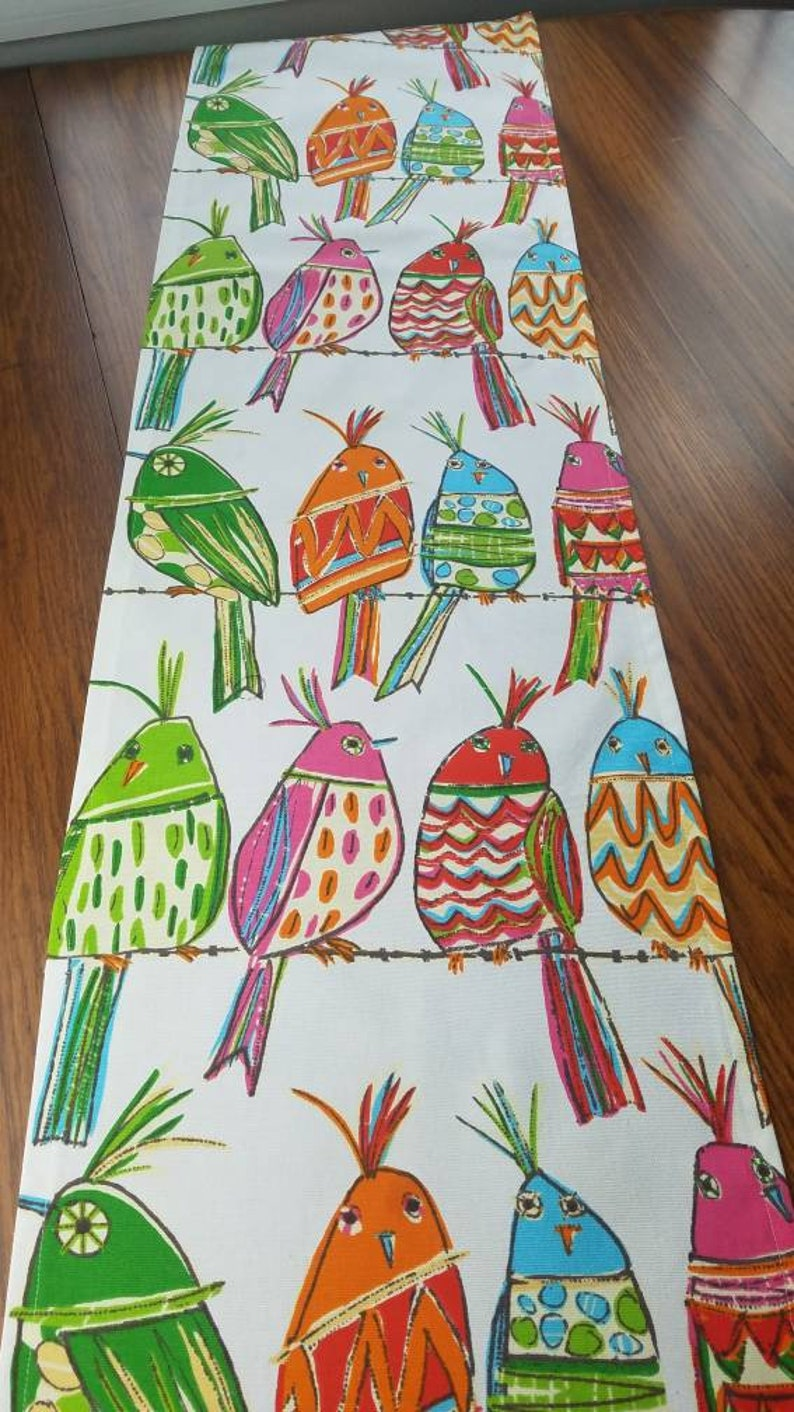Colorful Bird Table Runner