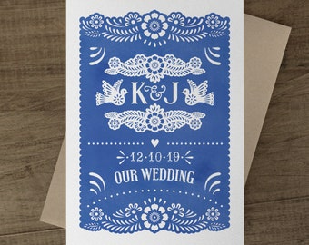 Papel Picado Invite Etsy