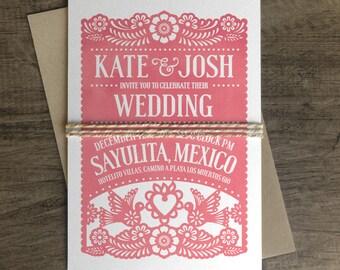 Papel Picado Wedding Invitation - Papel Picado Suite -