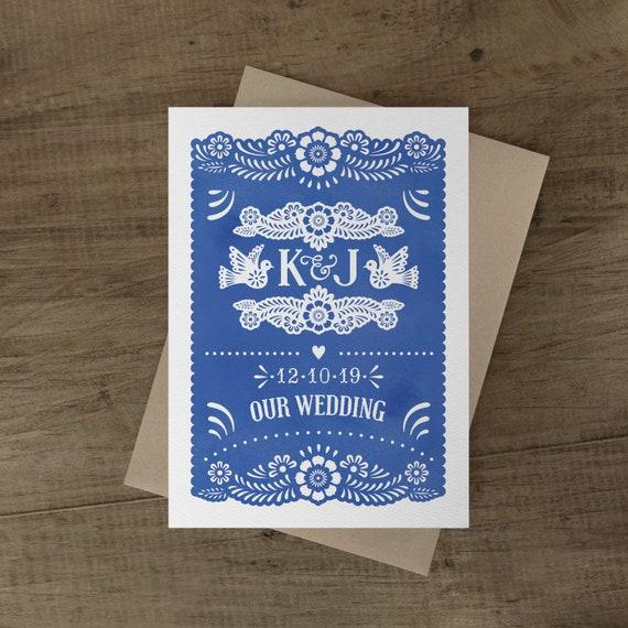 Papel Picado Wedding Invitation Cards Papel Picado Suite Etsy