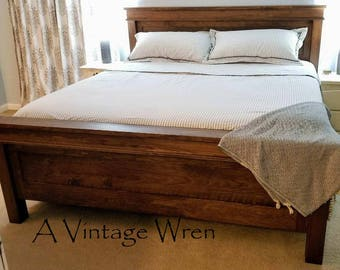 Farmhouse Style Bed/Wood Bed/Bedroom Furniture