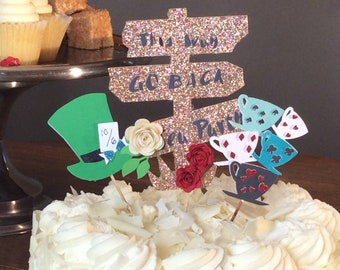 Alice In Wonderland Cake Topper Party Decorations 3 CT
