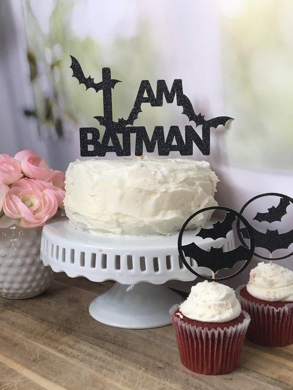 Batman Theme Cake Cupcake Decorations Set of 12