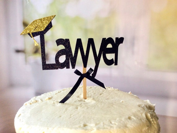 Lawyer Graduation Cake Topper Handcrafted In 1 3 Business