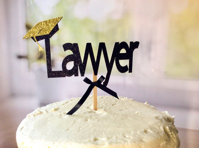 Lawyer Graduation Cake Topper Party Decor