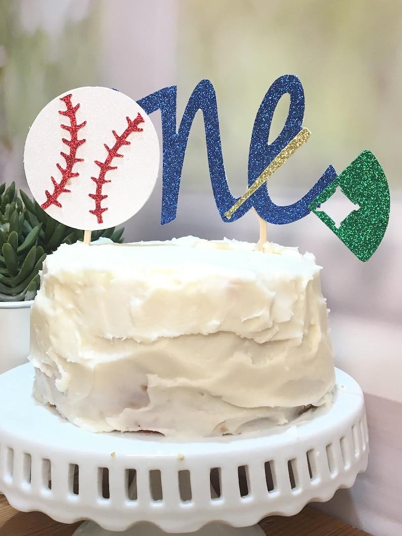 Fabulous First Birthday Cake Topper Baseball Birthday Cake Topper Etsy Funny Birthday Cards Online Necthendildamsfinfo