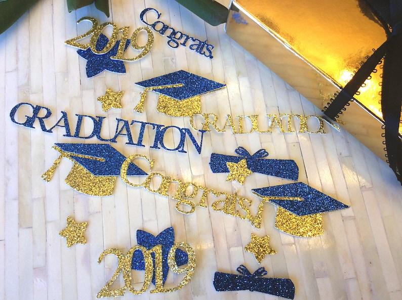 18fbaeef6d7ea 2019 Graduation Confetti, Graduation Party Decorations, 2018 Convocation  Decoration, Graduation Cap, Class of 2019, Die Cuts 50 CT