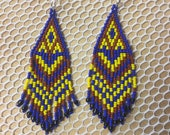 Earring maya art beads...