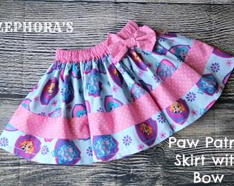Paw Patrol Girls Skirt - Handmade Girls Skirt Cartoon Skirt, SKYE
