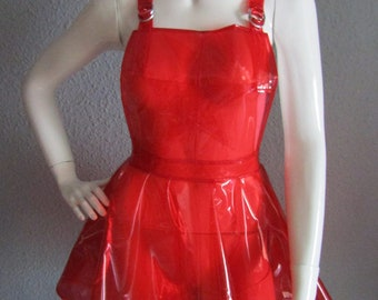 b5c22bd2b41 PVC Dungaree Pinafore Overalls Dress - Various Colours