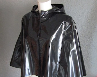 PVC Short Hooded Cape. Various colours available.