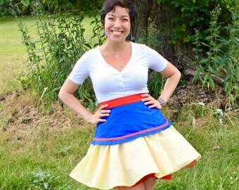 Snow White Princess Circle Skirt Crinoline Rockabilly Skirt
