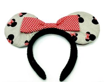 Minnie Mickey Ears, Minnie Disney Ears, Custom Disney Inspired Ears
