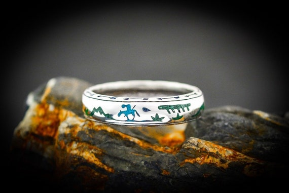 End of the Trail Ring James Frazer Ring 925 Sterling Silver Navajo Indian Ring