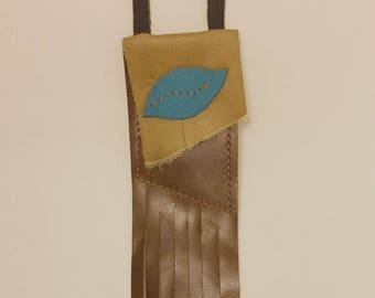 Teal Leather Medicine Bag