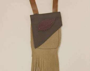 Grey Leather Medicine Bag