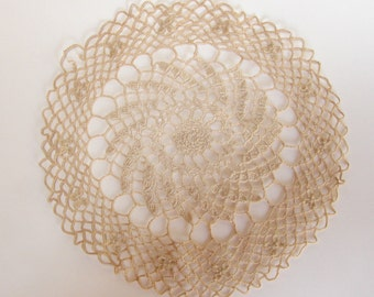 Lacey Delicate Round Hand Crocheted Doiley