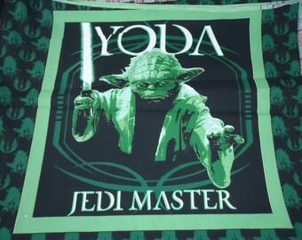 "Star Wars YODA Jedi Master Cotton Pillow Top Panel 22"" X 18"" 2005"