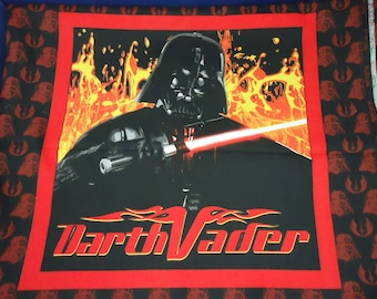 DARTH VADER Flames Black Red Cotton Pillow Top Panel 2005