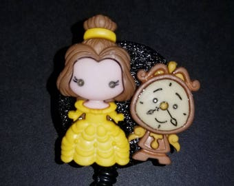 Beauty and the Beast Badge Reel - Beauty and the Beast Badge Holder - Disney Badge Holder - Retractable Badge Holder - Disney Badge Reel