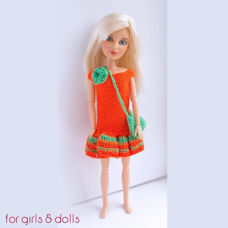 Arancione E Verde Barbie Vestiti Uncinetto Barbie Vestito 12 Etsy