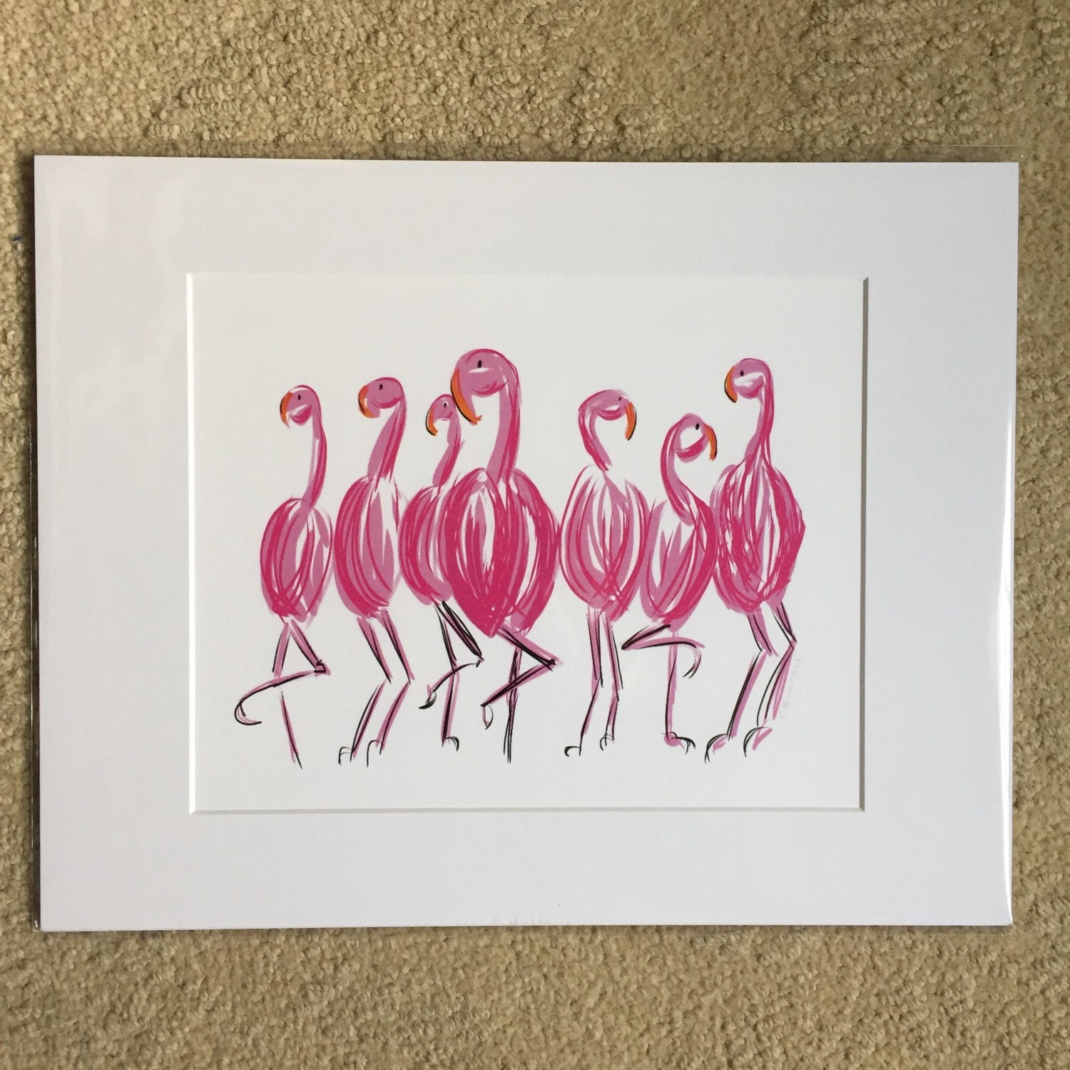Prints matted and ready to be framed in a standard 11 x 14 frame ...